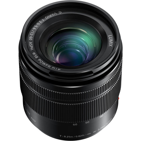 Panasonic Lumix 12-60mm f3.5-5.6 Micro Four Thirds Lens, lenses mirrorless, Panasonic - Pictureline  - 1
