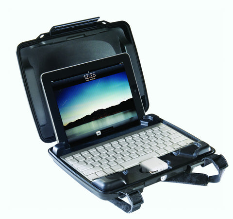 Pelican i1075 Hardback Case w/iPad Insert Black, bags accessories, Pelican - Pictureline