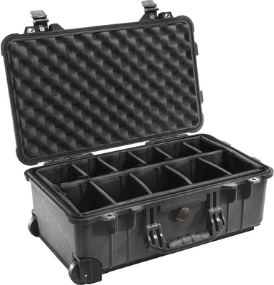 Pelican 1510 Carry On Case Black / Dividers, bags hard cases, Pelican - Pictureline  - 2