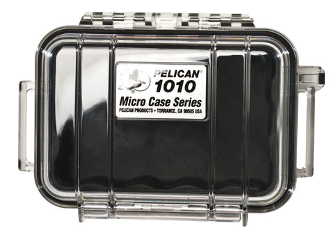 Pelican 1010 Micro Case Clear/Black, bags hard cases, Pelican - Pictureline