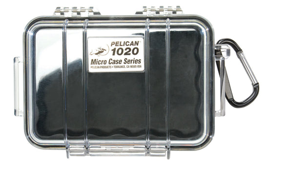 Pelican 1020 Micro Case Clear/Black, bags hard cases, Pelican - Pictureline