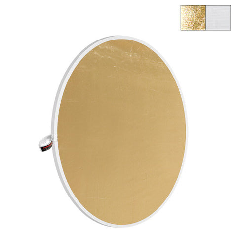 "Photoflex 52"" White/Gold LiteDisc Reflector, lighting reflectors, Photoflex - Pictureline"