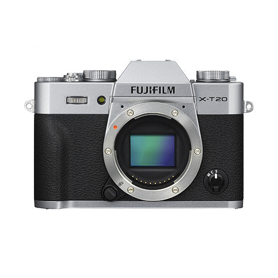 Fujifilm X-T20 Mirrorless Digital Camera Body (Silver), camera mirrorless cameras, Fujifilm - Pictureline  - 1