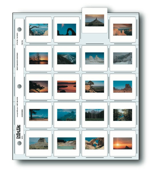 Print File 2x2 20HB Slide Preservers (25 Pack), camera film storage, Print File - Pictureline