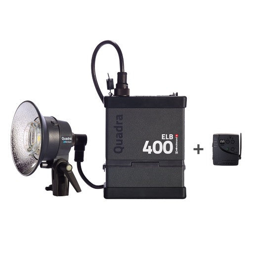 Elinchrom Quadra ELB 400 One Action Head To Go Kit, discontinued, Elinchrom - Pictureline  - 1