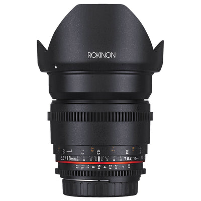Rokinon Cine DS 16mm T2.2 Cine Lens for Nikon