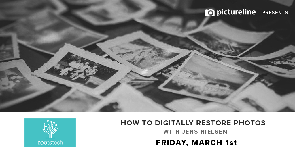 How to Digitally Restore Old Photos with Jens Nielsen (March 1st, Friday)