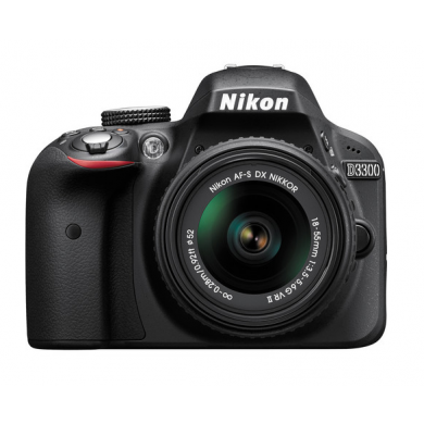 Nikon D3300 DX-format Digital SLR Kit w/ 18-55mm DX VR II Zoom Lens Black, discontinued, Nikon - Pictureline  - 1
