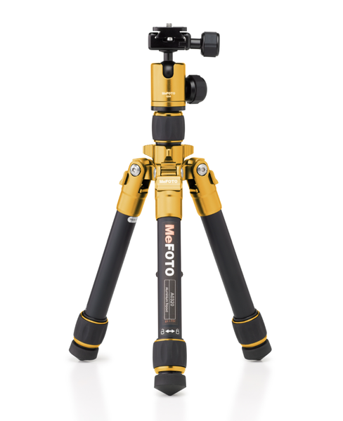 MeFOTO DayTrip Tripod Kit (Yellow), tripods travel & compact, MeFOTO - Pictureline  - 1