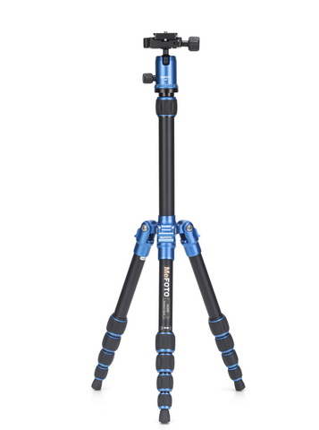 MeFOTO BackPacker Tripod Kit (Blue), tripods travel & compact, MeFOTO - Pictureline  - 1