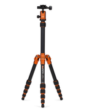 MeFOTO BackPacker Tripod Kit (Orange), tripods travel & compact, MeFOTO - Pictureline  - 1