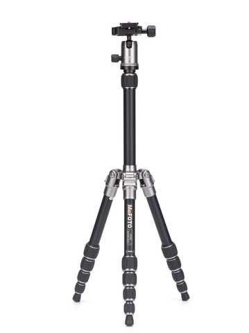 MeFOTO BackPacker Tripod Kit (Titanium), tripods travel & compact, MeFOTO - Pictureline  - 1