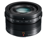 Panasonic Lumix 15mm f1.7 Summilux Four Third Lens, lenses mirrorless, Panasonic - Pictureline  - 1