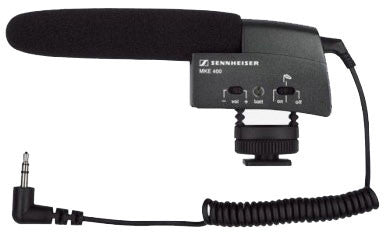 Sennheiser MKE 400 Compact Video Camera Shotgun Mic, video audio microphones & recorders, Sennheiser - Pictureline
