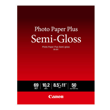 Canon 8.5x11 Semigloss SG-201, papers sheet paper, Canon - Pictureline