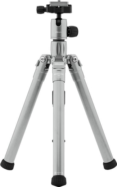 MeFOTO BackPacker Air Tripod Kit (Titanium), tripods travel & compact, MeFOTO - Pictureline  - 1
