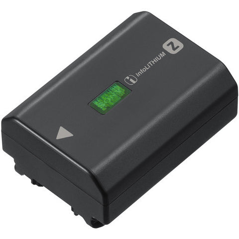 Sony NP-FZ100 Lithium-Ion Rechargeable 2280mAh Battery (A9, A7R III) For Sony a9, a7R III, and a7 III mirrorless cameras High capacity for long life, approx.2.2 times of the NP-FW50 Electrical capacity of 16.4Wh (7.2V/2280mAh) iNFOlithium enables remaining charge display on camera LCD screen