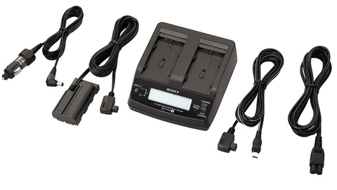 Sony AC VQ1051D Dual Charger for Sony L-Series Batteries, camera batteries & chargers, Sony - Pictureline