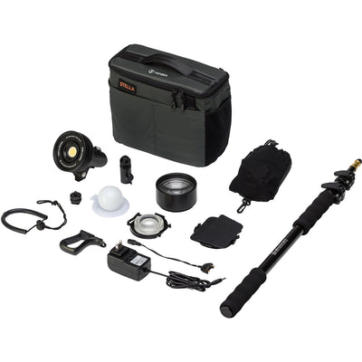 Light and Motion Stella 2000 SP LED 1-Light Action Kit with Accessories, lighting led lights, Light & Motion - Pictureline