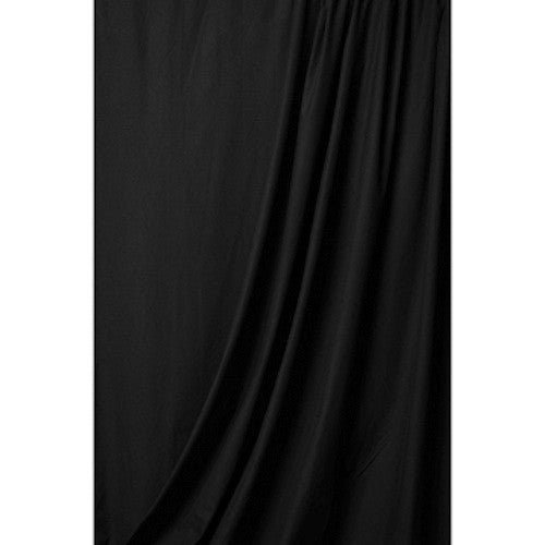 Superior Solid Black Muslin 10'x24', lighting backgrounds & supports, Superior - Pictureline