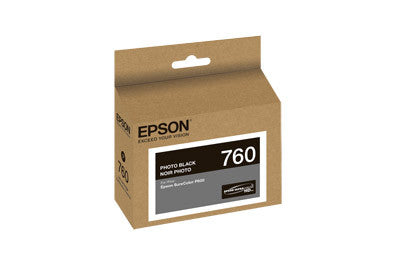 Epson T760120 P600 Photo Black Ink Cartridge (760), printers ink small format, Epson - Pictureline