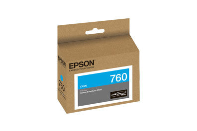 Epson T760220 P600 Cyan Ink Cartridge (760), printers ink small format, Epson - Pictureline