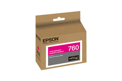 Epson T760320 P600 Vivid Magenta Ink Cartridge (760), printers ink small format, Epson - Pictureline