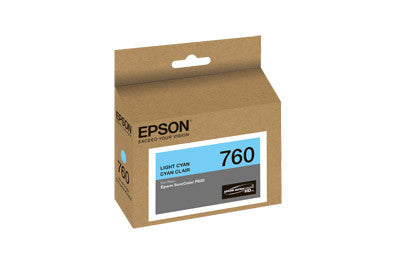 Epson T760520 P600 Light Cyan Ink Cartridge (760), printers ink small format, Epson - Pictureline