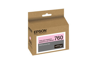 Epson T760620 P600 Vivid Light Magenta Ink Cartridge (760), printers ink small format, Epson - Pictureline