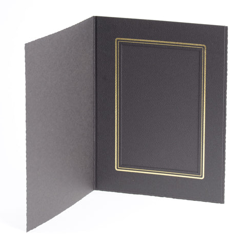 Tap Cal Ebony 4x6 Photo Folder, papers photo display, TAP - Pictureline