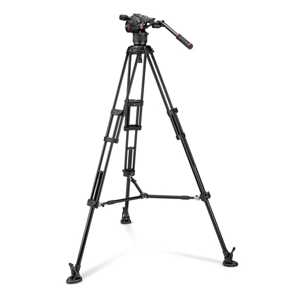 Manfrotto Nitrotech N8 Video Head & 546B Twin Leg Tripod Middle Spreader