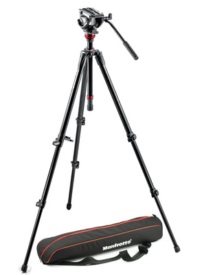 Manfrotto Video MVH500AH Pro Fluid Head with 755XBK Tripod and Bag, tripods video tripods, Manfrotto - Pictureline