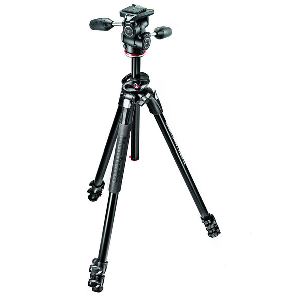 Manfrotto MK290DUA3-3WUS 290 Dual Aluminum Tripod wiht 3-Way Pan/Tilt Head