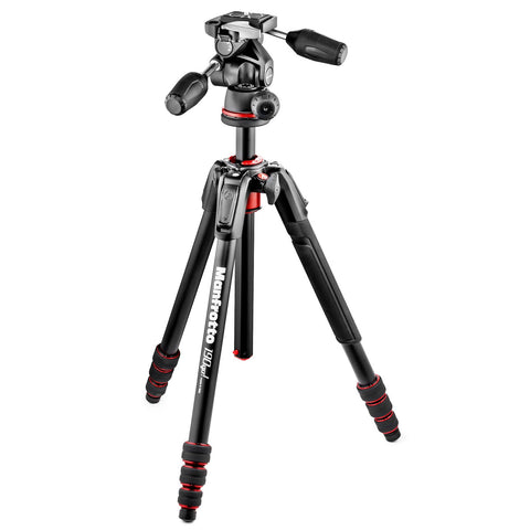 Manfrotto 190go! Aluminum 4 Section Tripod with 3 Way Head