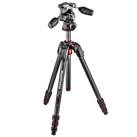 Manfrotto 190go! Carbon Fiber 4 Section Tripod with 3 Way Head