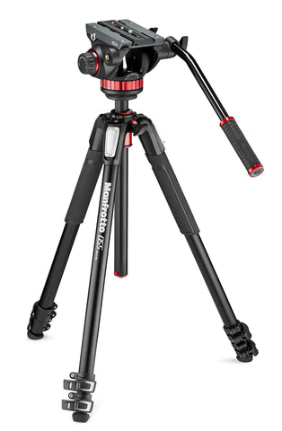 Manfrotto MVK502055XPRO3 Video Kit with MVH502AH Head and 055X3 Aluminum Tripod, tripods video tripods, Manfrotto - Pictureline
