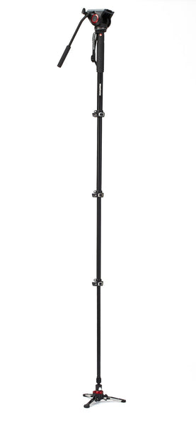 Manfrotto Video MVMXPRO500US Xpro Aluminum Video Monopod with 500 Series Video Head, tripods video monopods, Manfrotto - Pictureline  - 1