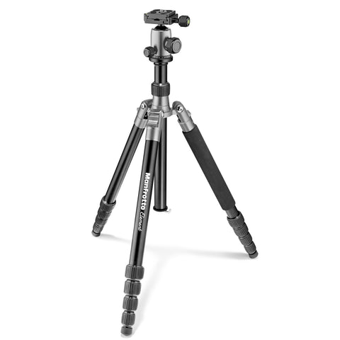 Manfrotto MKELEB5GY-BH Element Big Aluminum Traveler Tripod (Gray), tripods travel & compact, Manfrotto - Pictureline  - 1