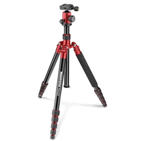 Manfrotto MKELEB5RD-BH Element Big Aluminum Traveler Tripod (Red), tripods travel & compact, Manfrotto - Pictureline  - 1