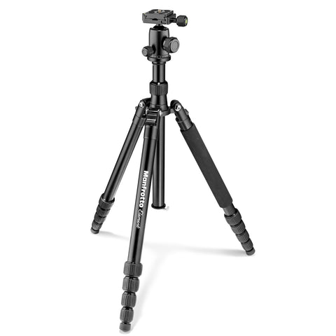 Manfrotto MKELEB5BK-BH Element Big Aluminum Traveler Tripod (Black), tripods travel & compact, Manfrotto - Pictureline  - 1