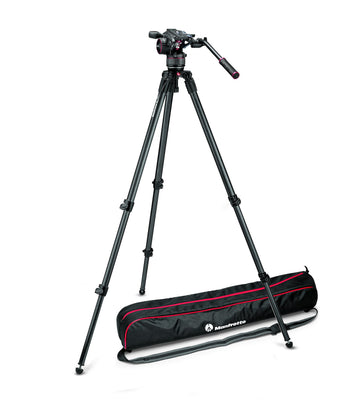 Manfrotto MVKN8CUS Video Kit with Nitrotech N8 Head & 535 CF Single Leg Tripod