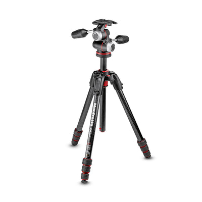 Manfrotto 190go! Carbon Fiber 4 Section Tripod with 3 Way Pan/Tilt Head Kit