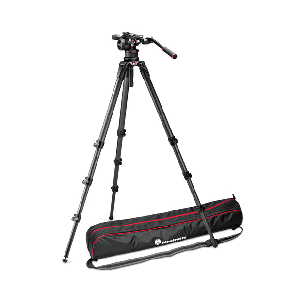 Manfrotto MVKN12CTALLUS Video Kit with Nitrotech N12 Head & Tall Single Leg CF Tripod