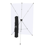 Westcott X-Drop Kit with White 5 x 7' and FREE Black 5x7 Backdrop