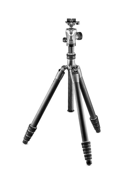 Gitzo GK2545T-82QD Series 2 Traveler Carbon Fiber Tripod with Center Ball Head, tripods travel & compact, Gitzo - Pictureline  - 1