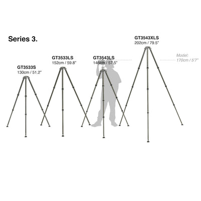 Gitzo GT3543XLS Series 3 Carbon Systematic 4-Section Tripod (X-Long), tripods photo tripods, Gitzo - Pictureline  - 2