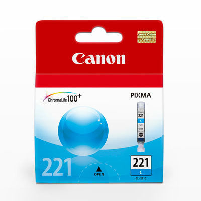 Canon CLI-221 Cyan Ink Tank, printers ink small format, Canon - Pictureline