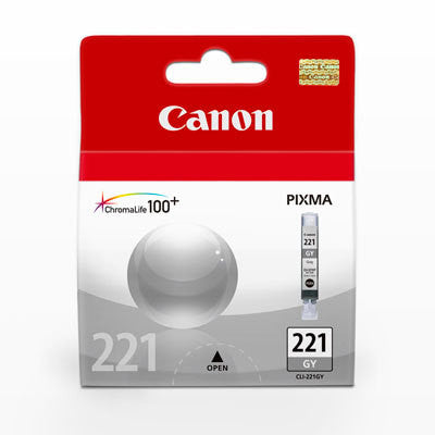 Canon CLI-221 Grey Ink Tank, printers ink small format, Canon - Pictureline