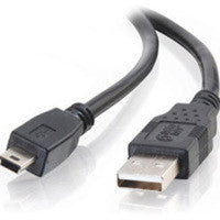 Universal USB 2.0 Type A to Mini B Male 6ft., computers cables & adapters, Universal Systems - Pictureline