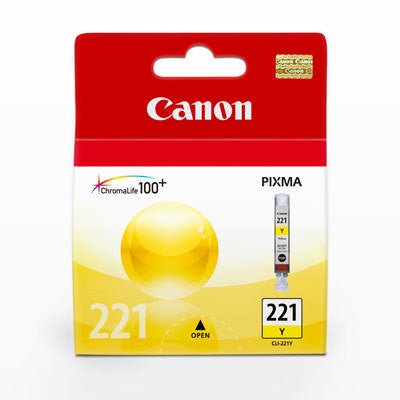 Canon CLI-221 Yellow Ink Tank, printers ink small format, Canon - Pictureline